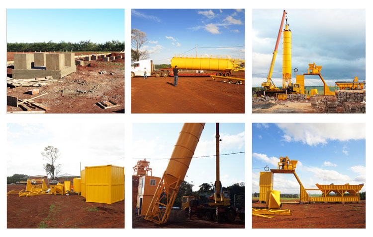 YHZS25 Mobile Concrete Plant Export To Paraguay