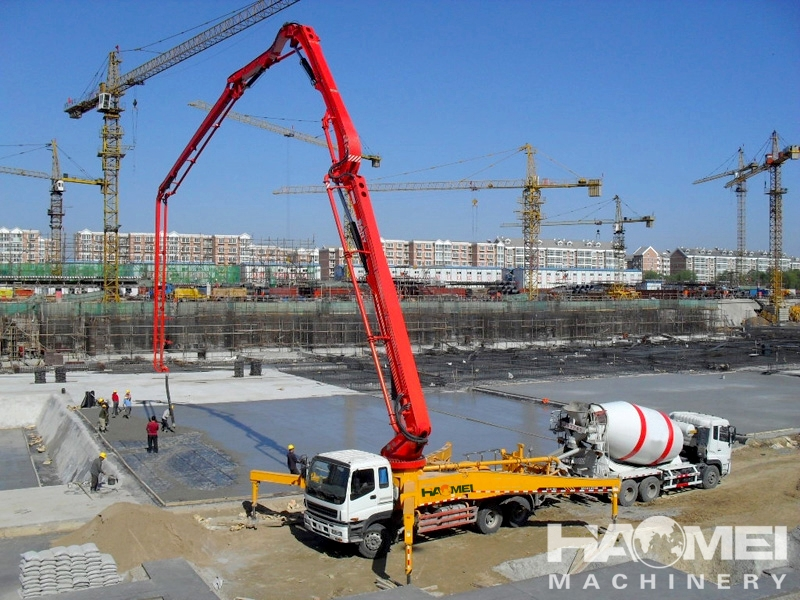 Concrete Pumping Station : Hdt thb concrete pump truck haomei